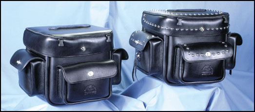 Beach Street Jumbo Sissybar Bags plain and studded
